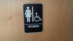 ladies room sign