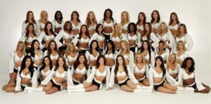 40 cheerleaders x $1250 owed each? $50,000. Oakland Raiders' worth in 2013? $825 million.