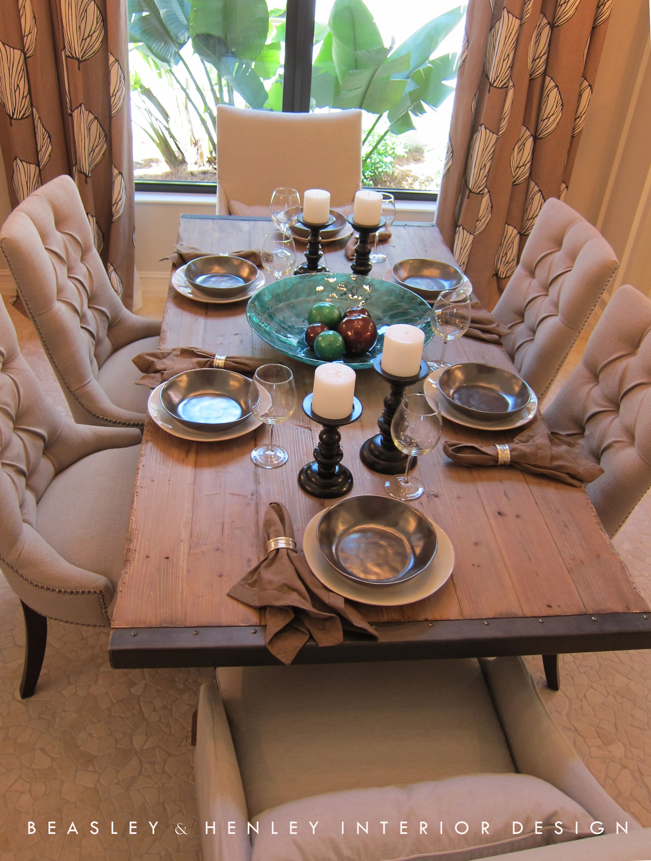 Vintage Style Dining Table By Beasley Henley Interior Design In Naples